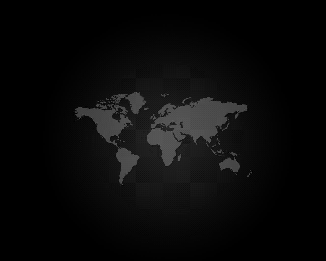 Black World Map Wallpaper 9617 Hd Wallpapers in Travel n World 1280x1024