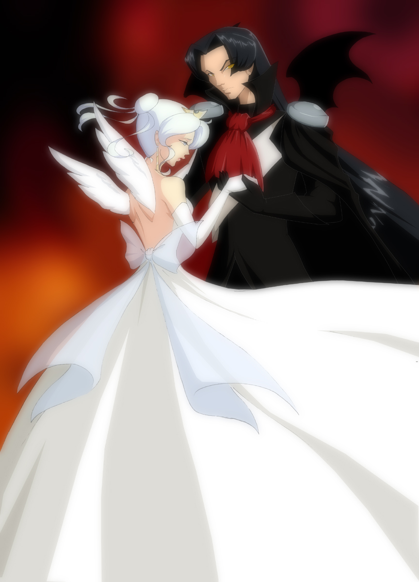 with anime devil Dancing the