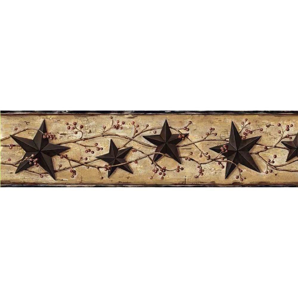 June Black Heritage Tin Star Wallpaper Border Sample Products 1000x1000