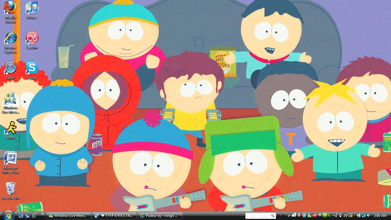 south park desktop wallpaper by bigbroflovskifan customization desktop 1366x768