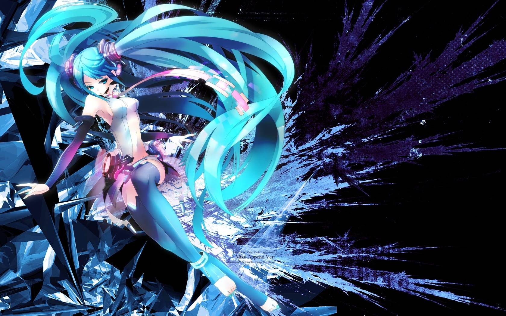 Cool Miku Hatsune   Anime Manga Wallpaper 1680x1050