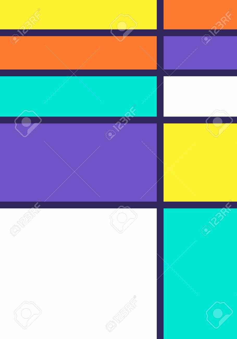 Vector Colorful Modern Mondrian Art Background Royalty 910x1300