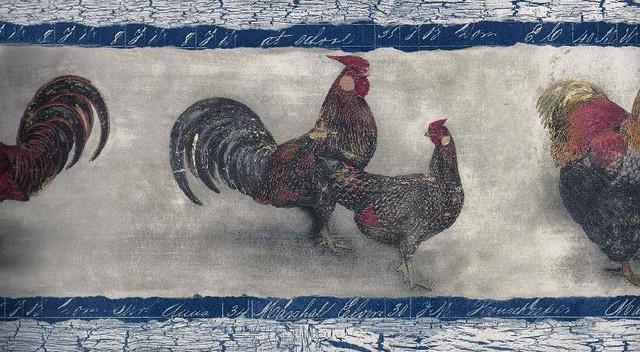 Kitchen Rooster Hen Wallpaper Border   Farmhouse   Wallpaper   by 640x352