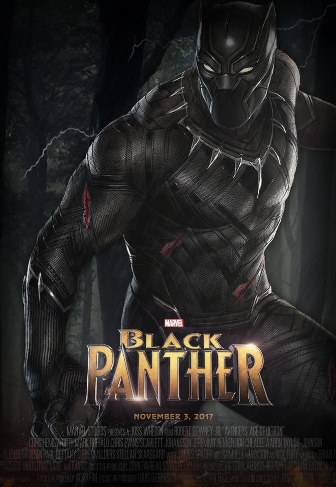 Marvels Black Panther 2017 Poster HD by JunkyardAwesomeness on 670x970