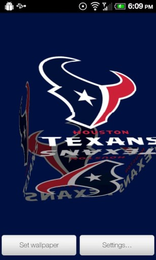 View bigger   Texans Live Wallpaper PRO for Android screenshot 307x512