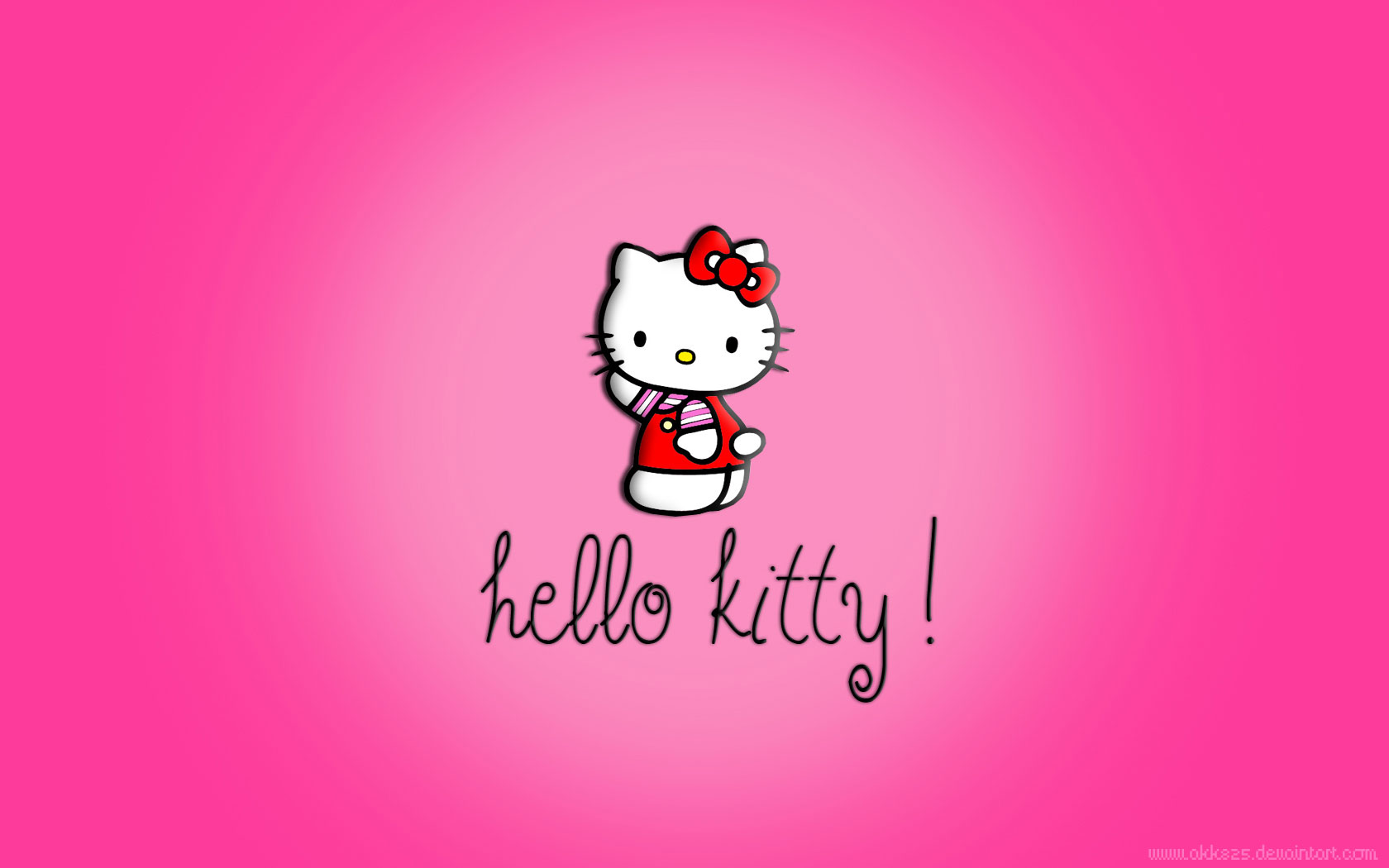 Hello Kitty Pictures Black And Pink Black hello kitty background 1680x1050