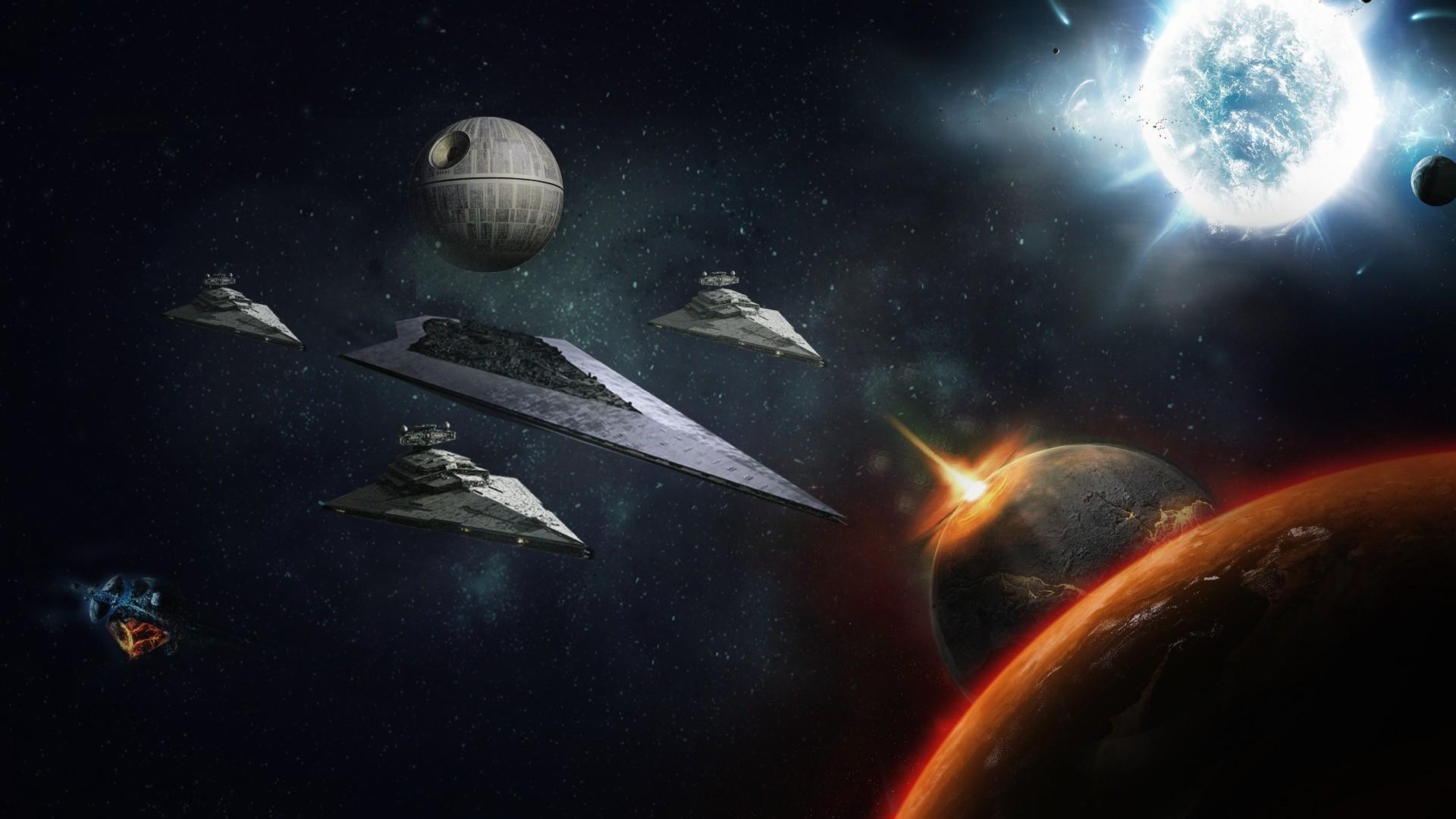 Star Wars death star fantasy game planet space starship star 1920x1080