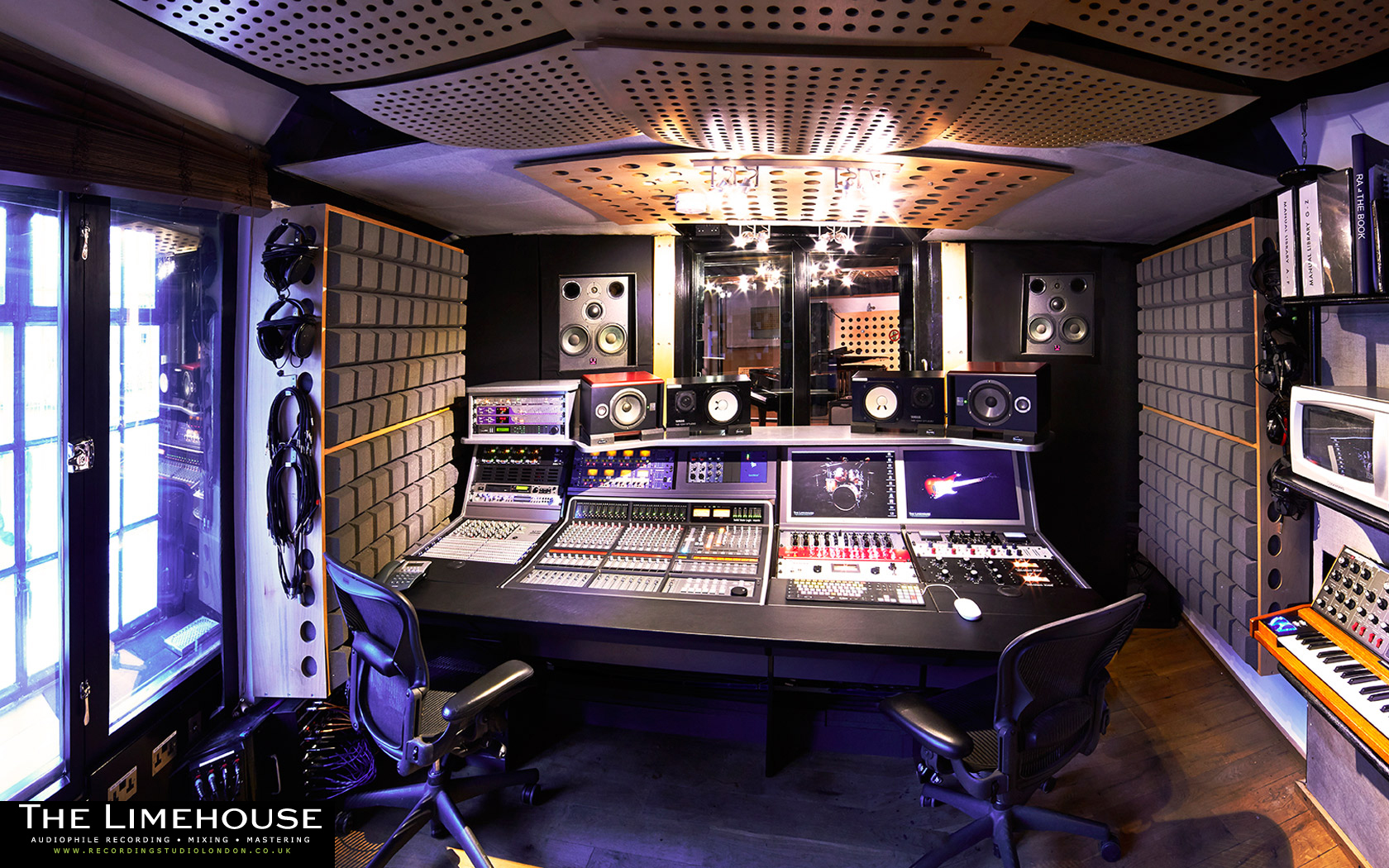 High Resolution Recording Studio Wallpaper images 1680x1050