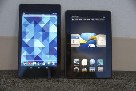 large 7 inch tablet showdown Kindle Fire HDX vs Nexus 7 TechHive 580x387