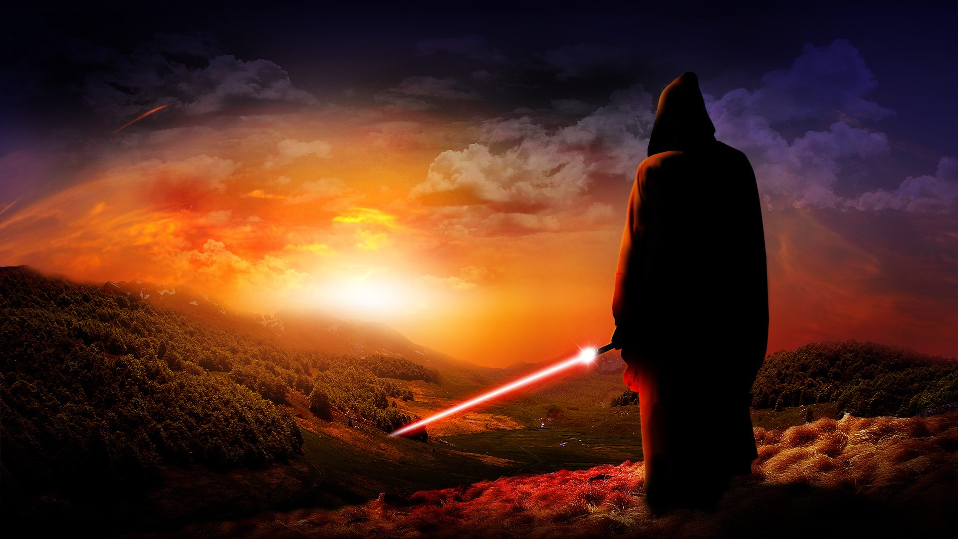Wars- Red Lightsaber [1920 × 1080], HQ Backgrounds | HD wallpapers ...