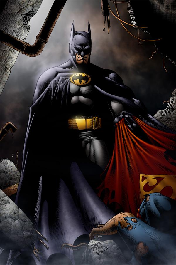 Batman and superman by SeanE 600x902