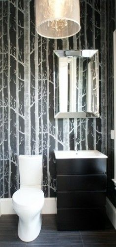 toilet Cole And Son Wallpapers and Powder Rooms 236x500