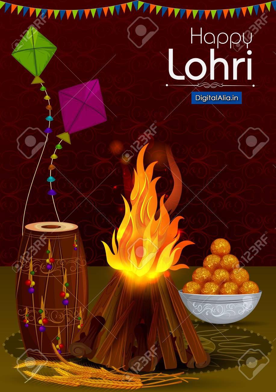 Happy Lohri 2020 Greeting Cards Photos And GIF 917x1300