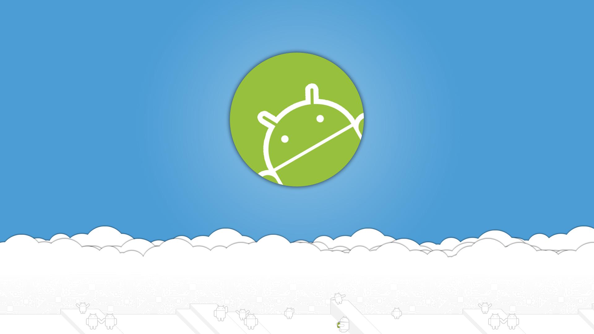 White Blue Android Wallpaper Wallpaper WallpaperLepi 1920x1080