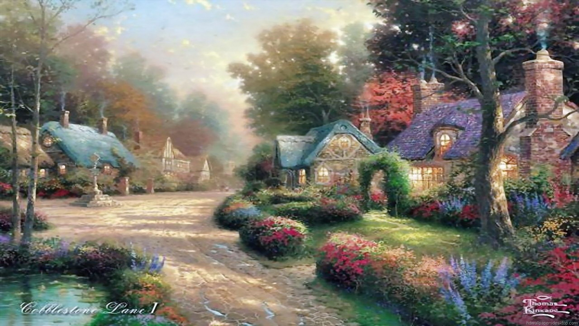 thomas kinkade wallpaper 1920x1080 - photo #41