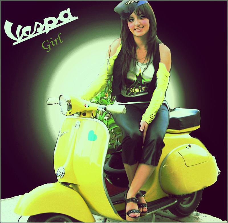 Vespa Girl by inkmlab 800x783