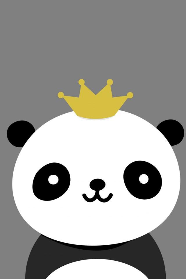 Cute Cartoon Panda Backgrounds Cartoon panda 640x960