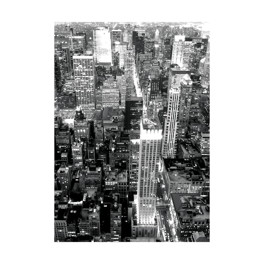 London WE5056 Black and White New York City Nights Removable Wallpaper 1000x1000
