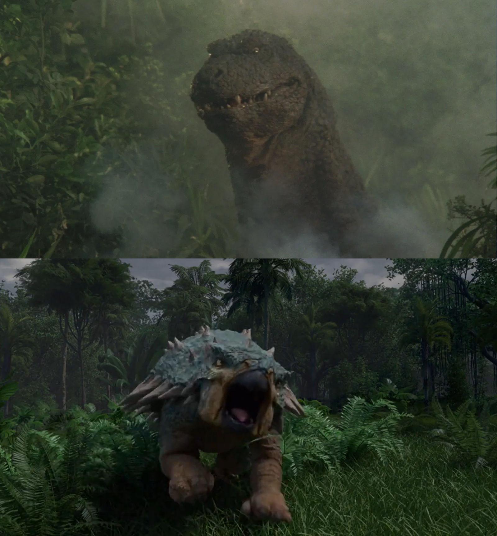 Bumpy vs Godzillasaurus by MnstrFrc 1600x1727