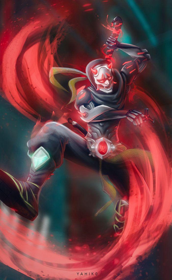 Oni Genji Overwatch by Yahik0deviantartcom 701x1140