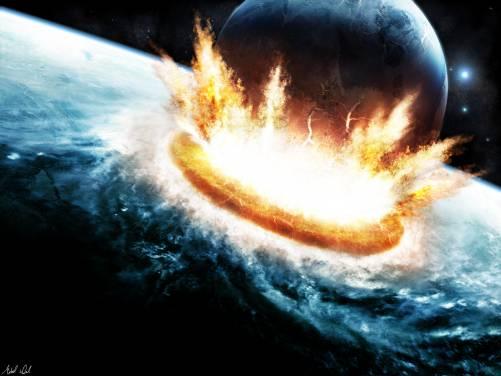 Widescreen Wallpaper Abstract space explosion planet destruction 501x376