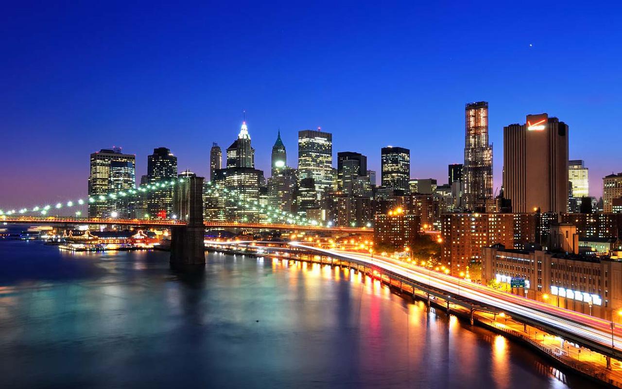 New York Skyline See Sight Wallpaper 1280x800 pixel City HD 1280x800
