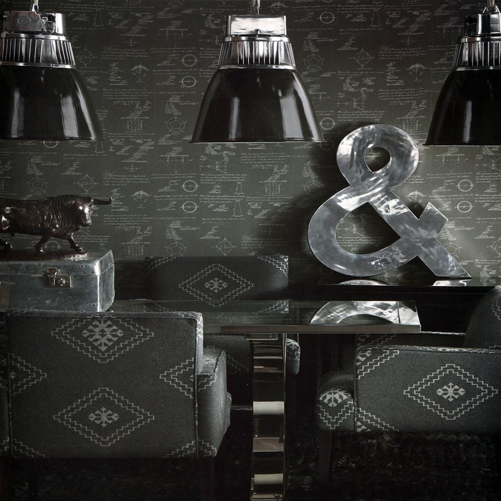Buy Andrew Martin Pythagoras Wallpaper   Charcoal Amara 1000x1000