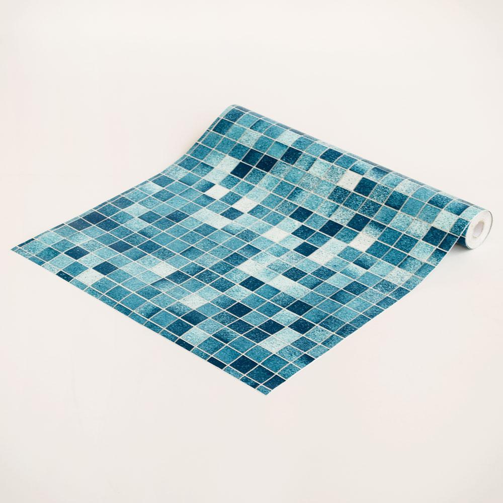 Blue Mosaic   Self Adhesive Wallpaper Home Decor Sample 1000x1000