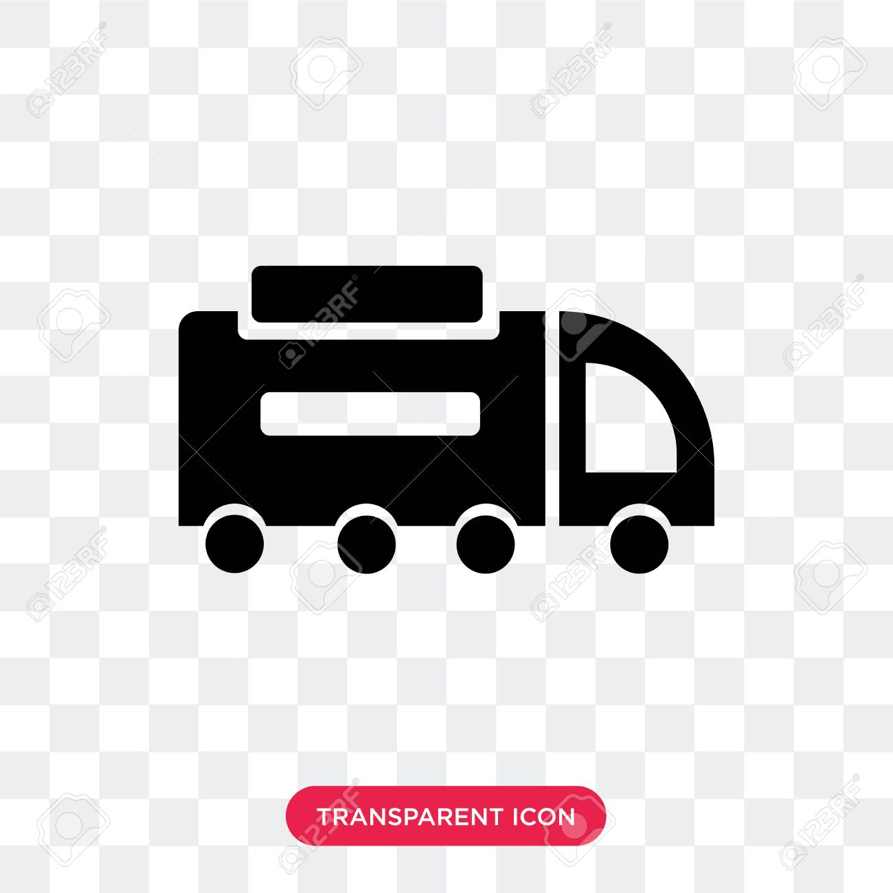 Road Sweeper Vector Icon Isolated On Transparent Background 1300x1300