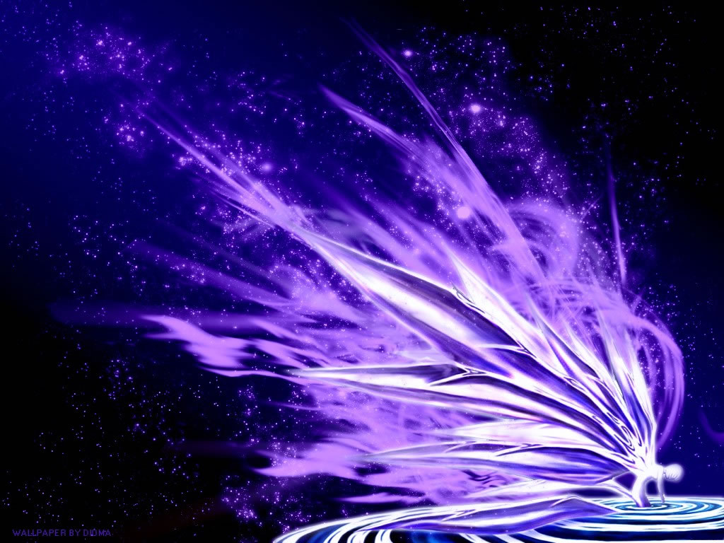 Purple Explosion   Anime Wallpaper Image featuring Neon Genesis 1024x768