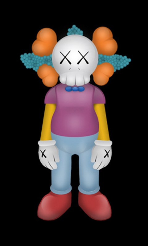 Kaws iPhone Krusty HD Nokia X Wallpapers Nokia X and Nokia XL 480x800