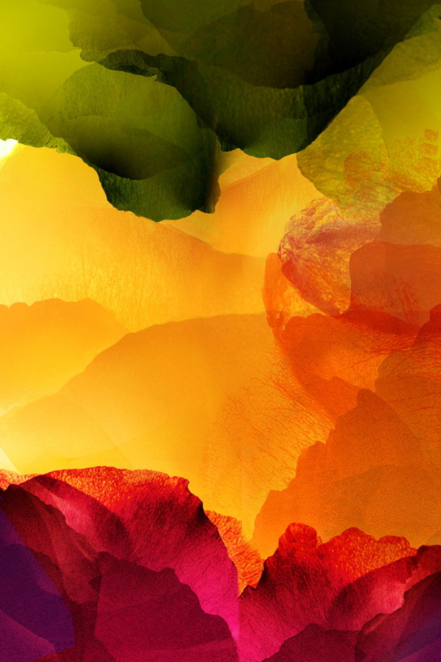 Watercolor Abstract Flowers Wallpaper   iPhone Wallpapers 640x960