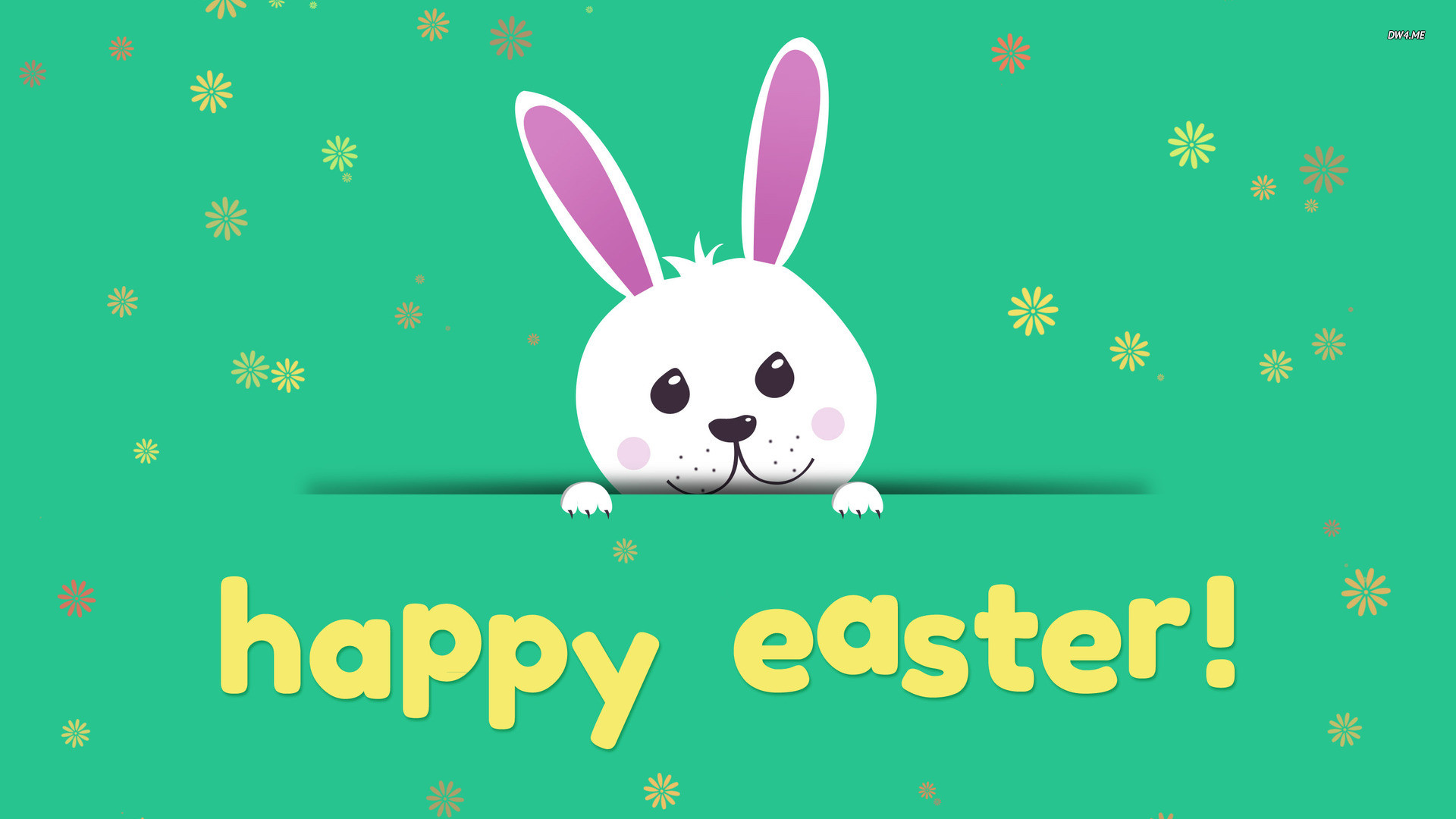 Happy Easter Cute Bunny HD Wallpapers   Easter Eggs 1920x1080