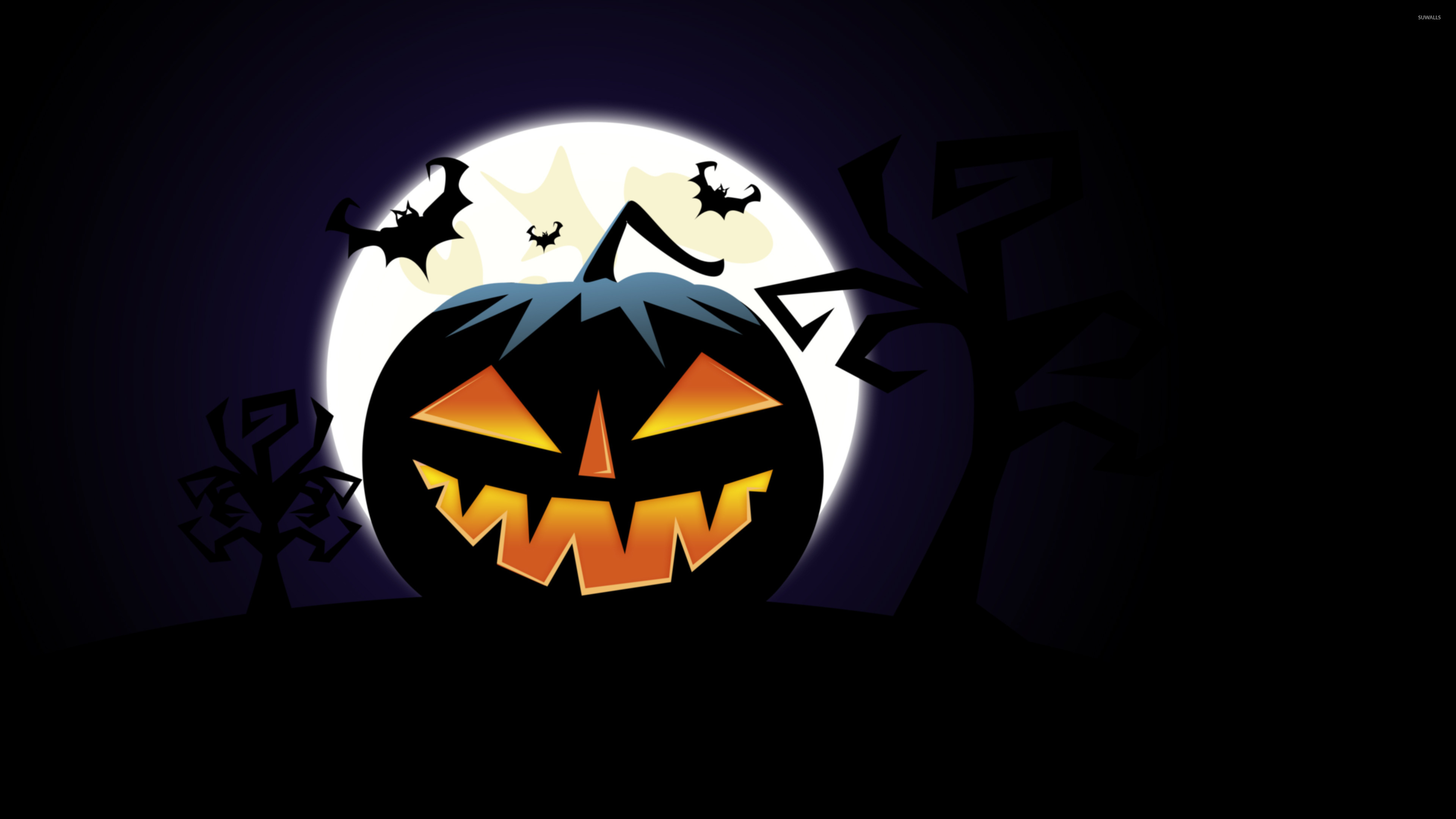 Free Download Jack O Lantern On Halloween Night Wallpaper Holiday