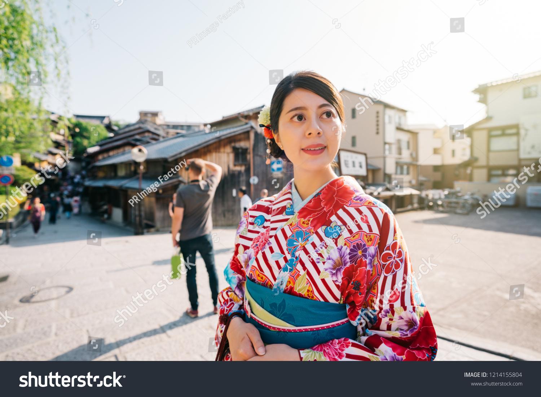 Tourist Visiting Japanese Town Kimono Foreigner Stock Photo Edit 1500x1101