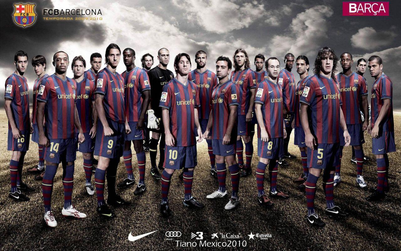 live sports gallery Barcelona Team HD Wallpaper 1280x800