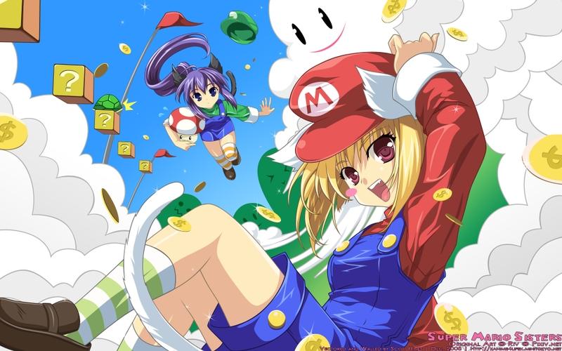 anime girlsMario mario anime girls 1920x1200 wallpaper Mario 800x500