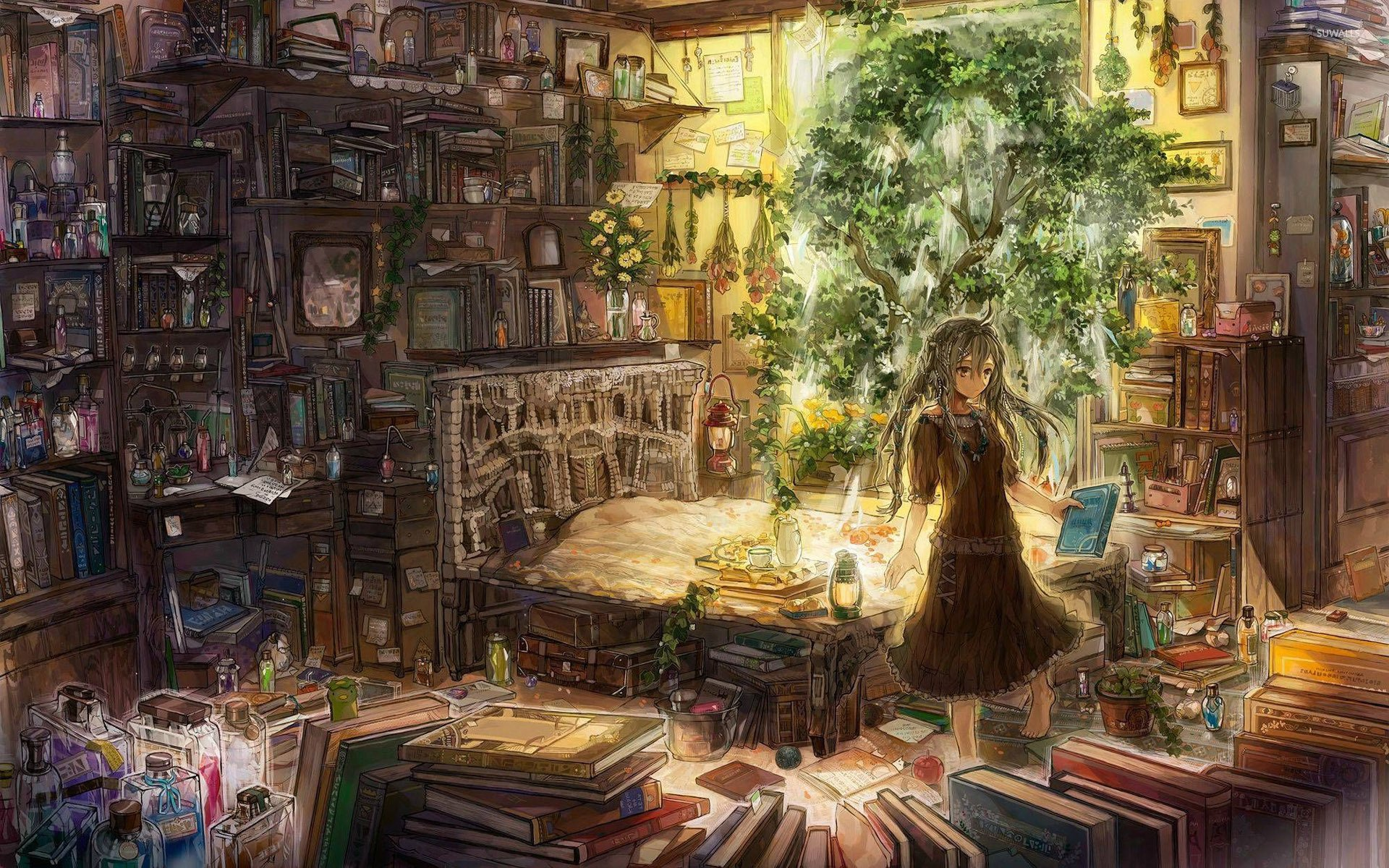 Cluttered room wallpaper   Anime wallpapers   27451 1920x1200