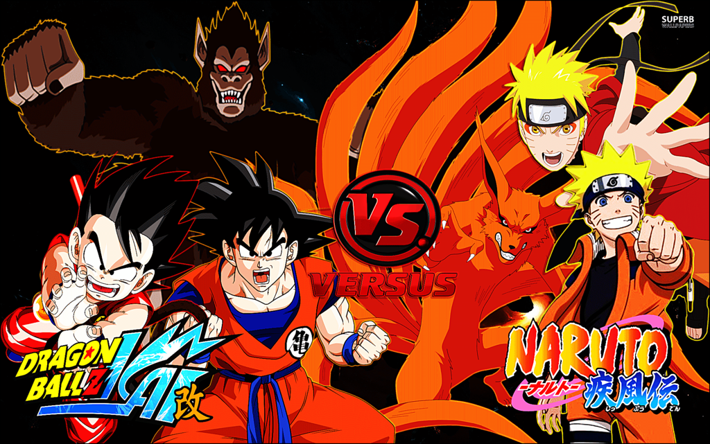 Goku Vs Naruto by DarkUchihaSharingan 1024x641