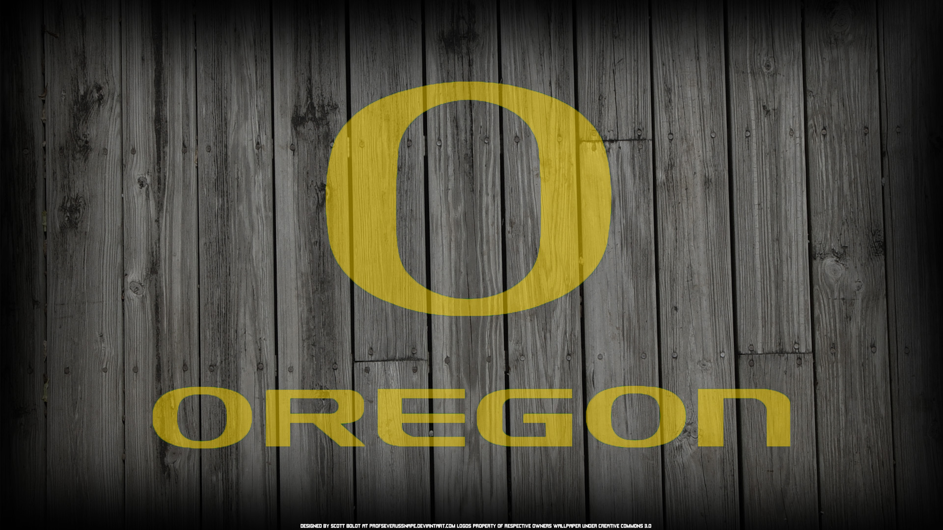Oregon Logo on Wood Fence Background by ProfSeverusSnape 1920 x 1920x1080