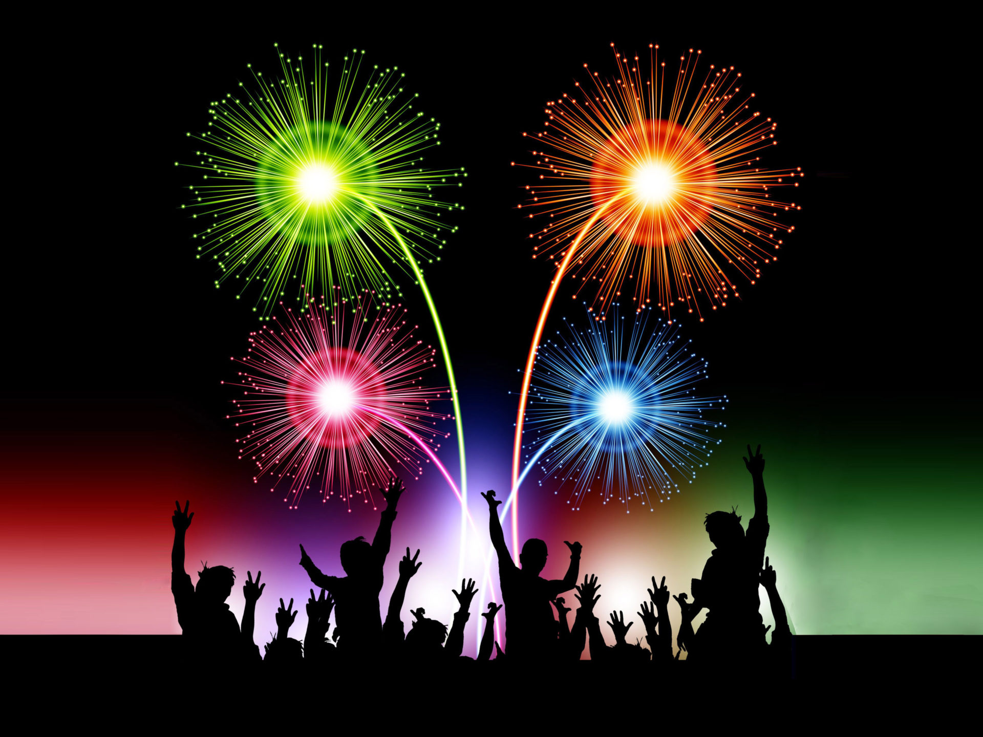Happy New Year 2020 Celebration Animated 3d Fireworks Desktop Hd 1920x1440