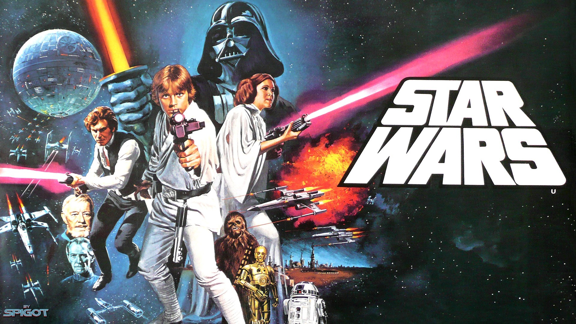 Star Wars movie poster a fantastic poster for a fantastic film 1920x1080