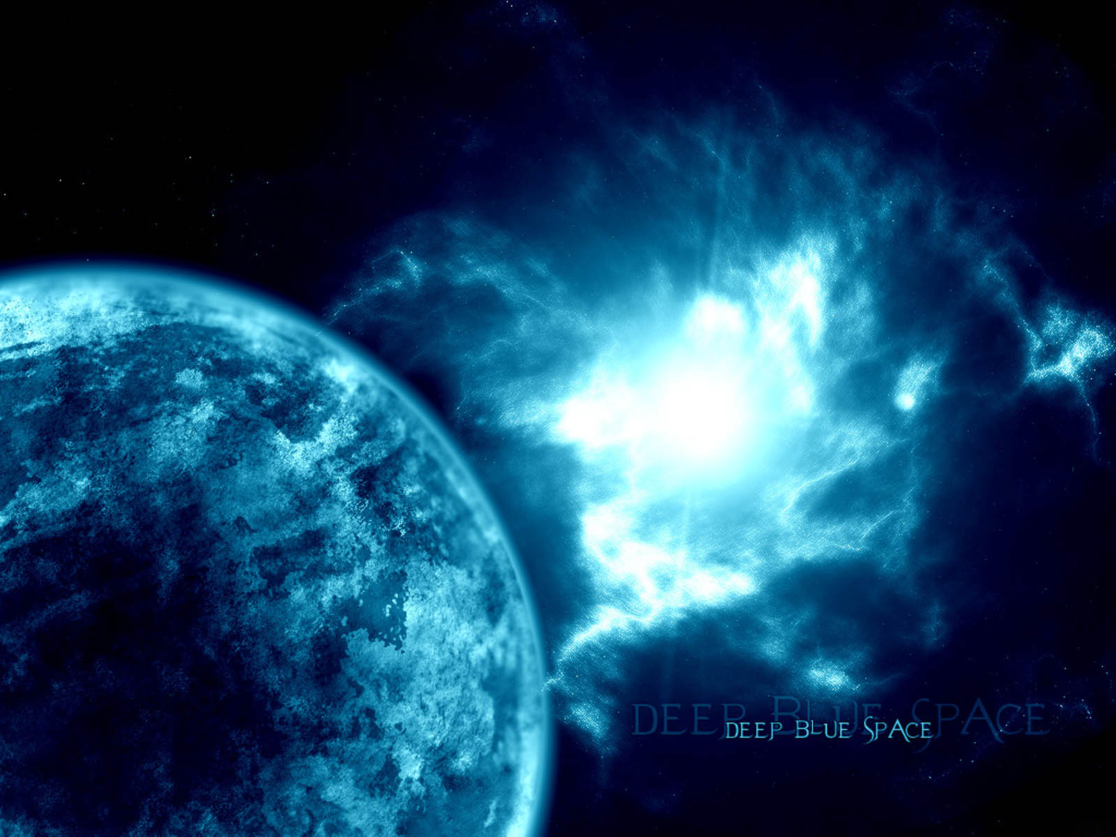 wallpaper Blue Space Wallpapers 1600x1200