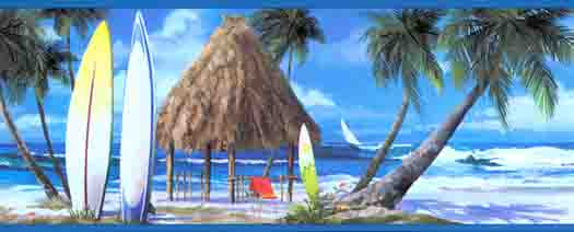 Wallpaper By Topics Nautical Tropical   Wallpaper Border 525x212