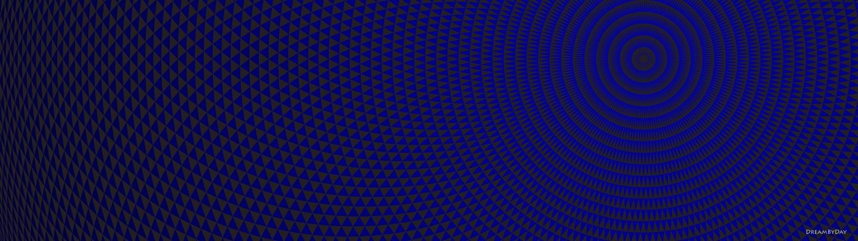 Circularpattern Blue Dual Papel de parede 5120x1440 foto compartilhado 1440x405