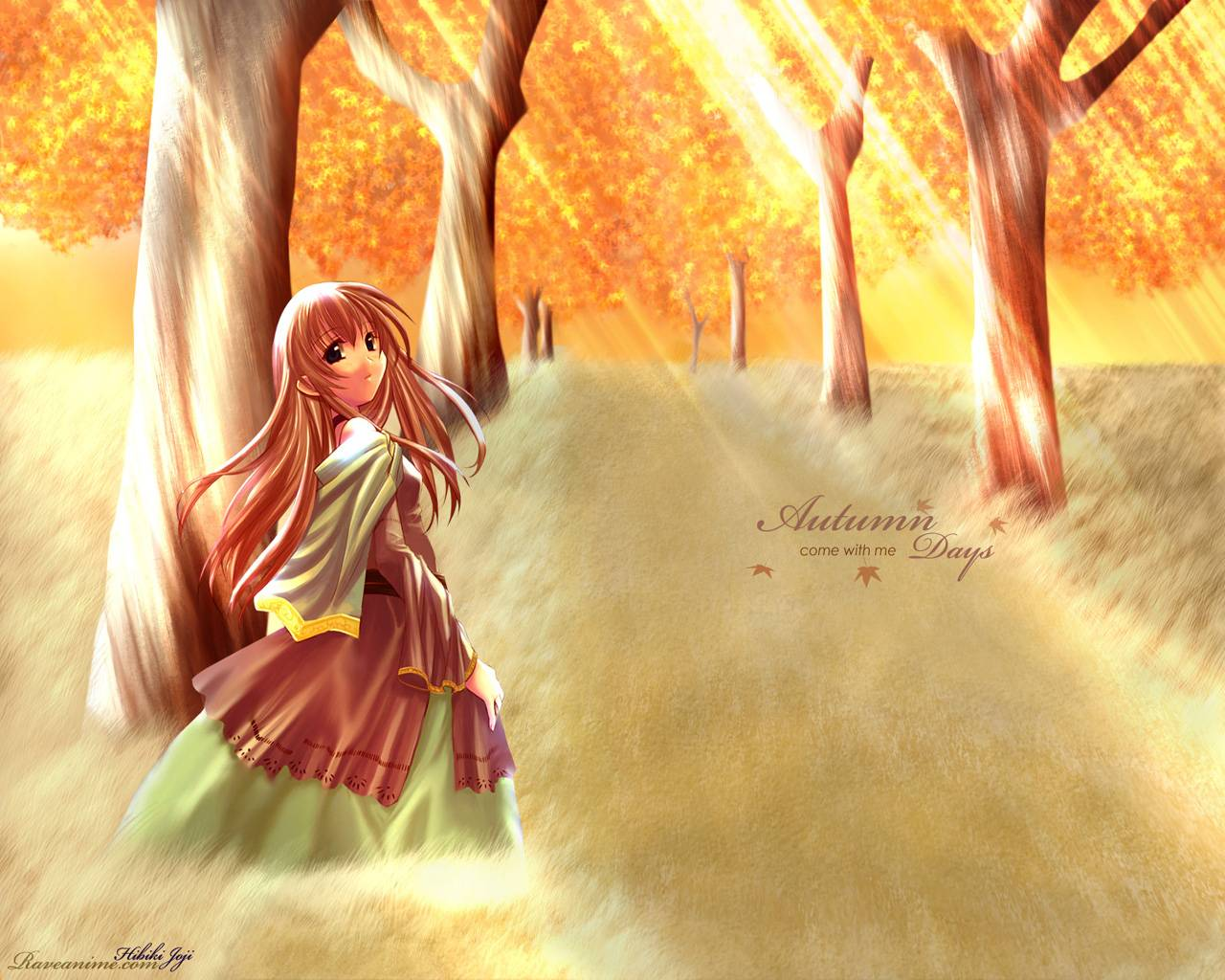 Autumn Leaves Orange Background Paint Albums Anime Wallpapers For 1280x1024