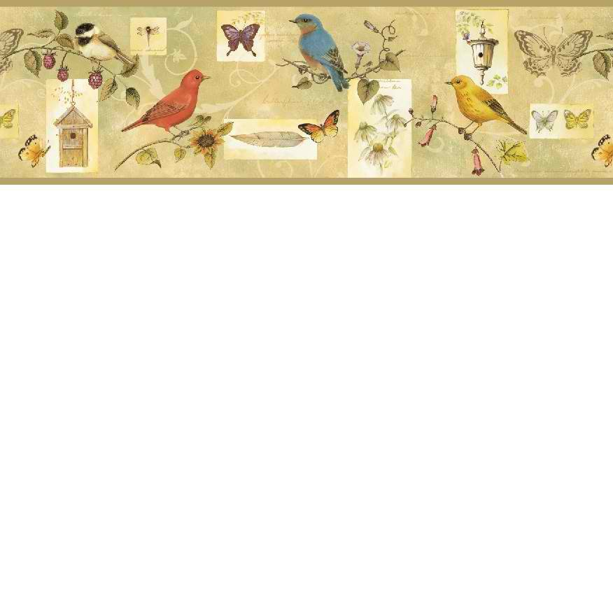 Brown CKB77942B Songbird Collage Wallpaper Border 876x876