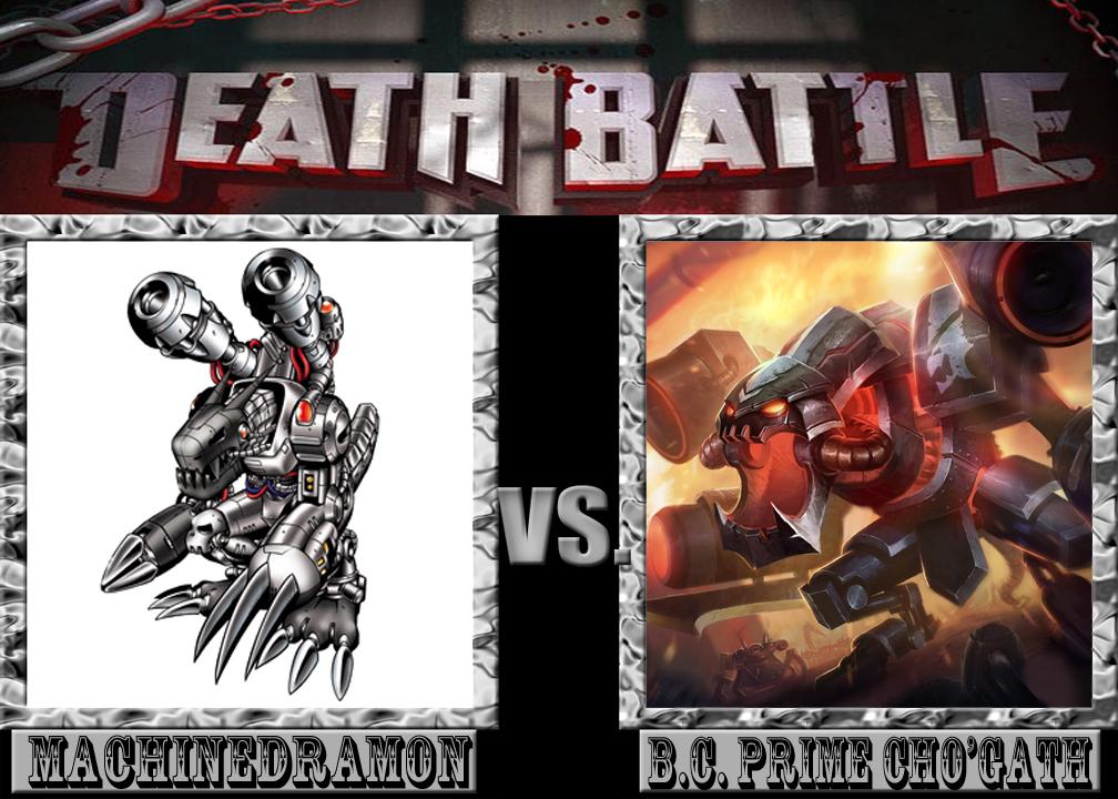 Battle Machinedramon Vs BC Prime ChoGath by M60RPD 1008x720