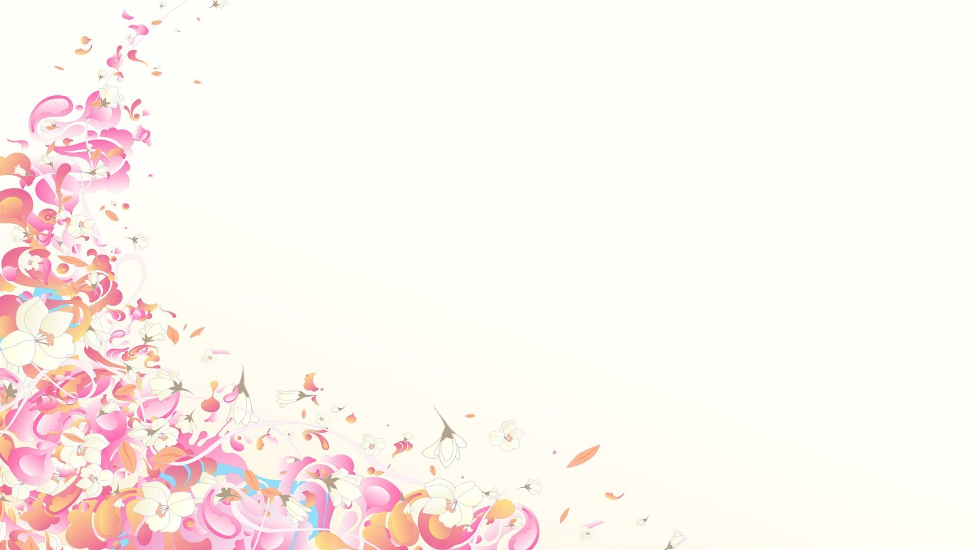 Hd wallpaper white background - Pink Flowers Wallpaper White Background Full Hd Abstract High