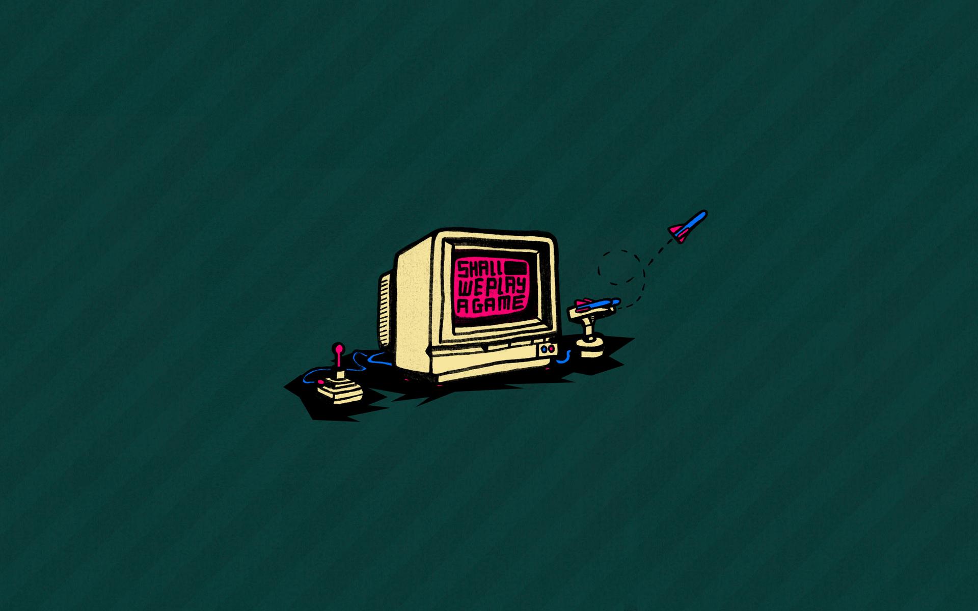 Retro Computer Gaming Wallpaper 64256 1920x1200px 1920x1200